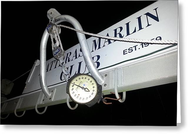 Hatteras Marlin Club Scales Greeting Card by Karen Rhodes