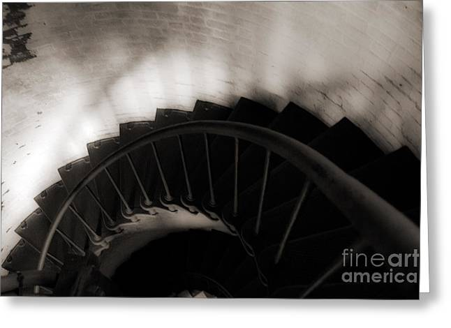 Greeting Card featuring the photograph Hatteras Staircase by Angela DeFrias