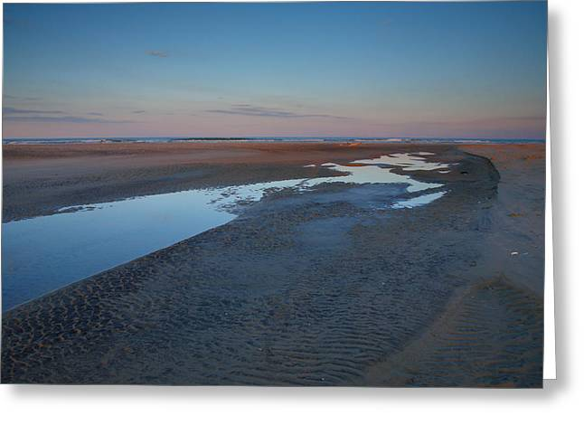Hatteras Tidal Pools II Greeting Card by Steven Ainsworth