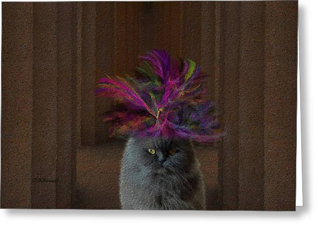 Hattie Mcfluffy Goes To Washington Greeting Card by Diane Parnell