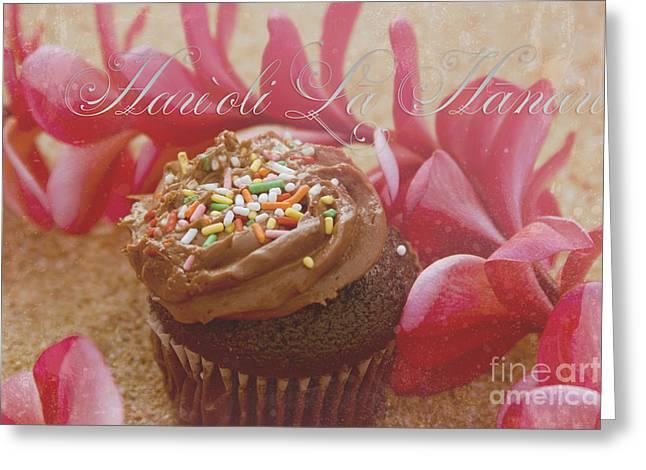 Hau 'oli La Hanau Greeting Card by Sharon Mau