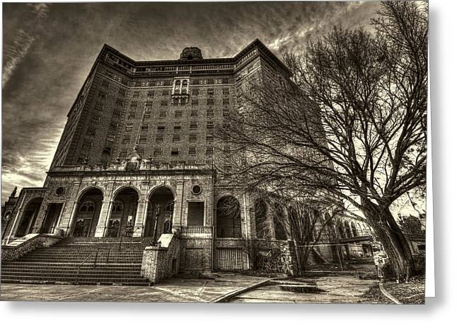 Haunted Baker Hotel Greeting Card by Jonathan Davison