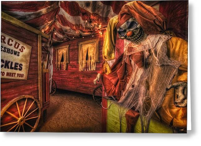 Haunted Circus Greeting Card