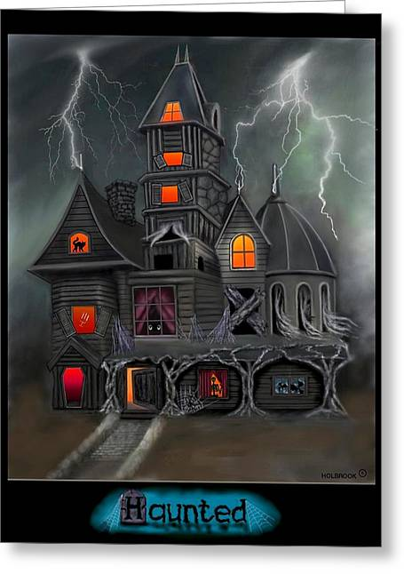 Haunted Greeting Card by Glenn Holbrook