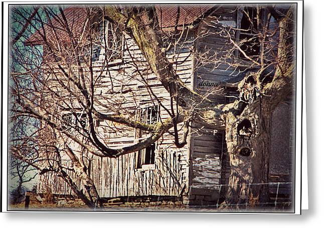 Haunted House Greeting Card by Donna Brown