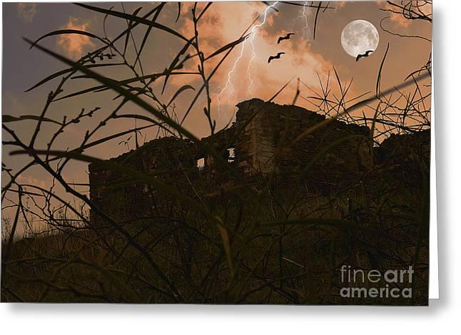 Haunted House Greeting Card by Eleni Mac Synodinos