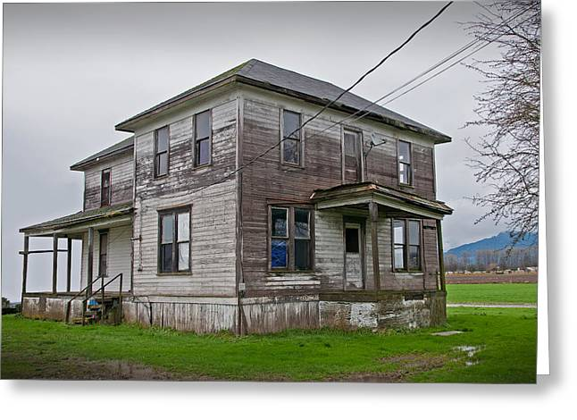 Haunted House Of Skagit County Greeting Card by Kent Sorensen