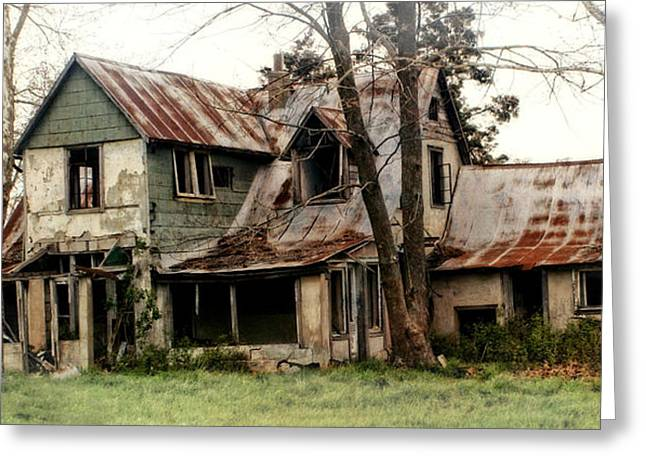 Haunted Greeting Card by Marty Koch