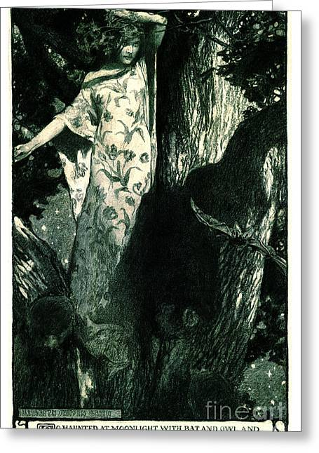 Haunted Moonlight 1902 Greeting Card by Padre Art