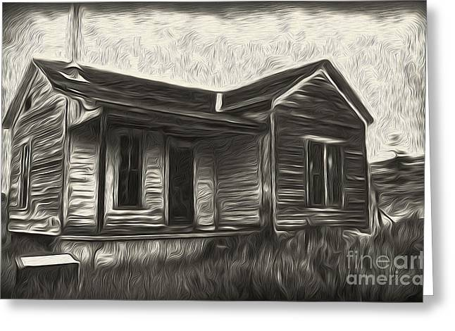 Haunted Shack - 02 Greeting Card by Gregory Dyer