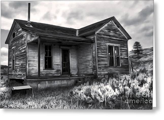 Haunted Shack Greeting Card by Gregory Dyer