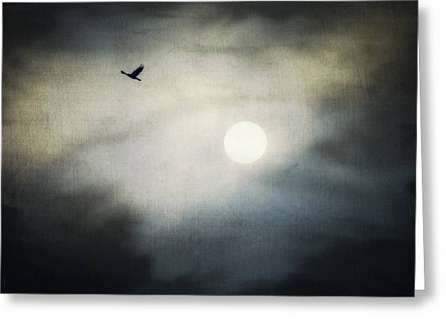Haunted Sky Greeting Card by Marianna Mills