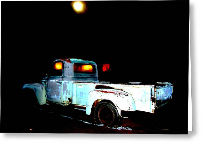 Greeting Card featuring the digital art Haunted Truck by Cathy Anderson