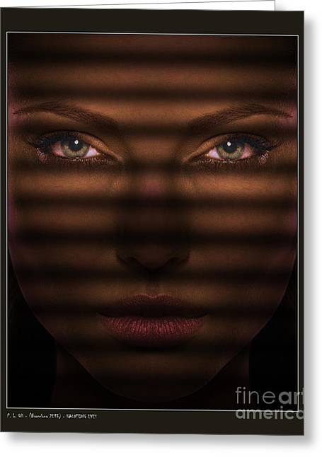 Haunting Eyes Greeting Card by Pedro L Gili
