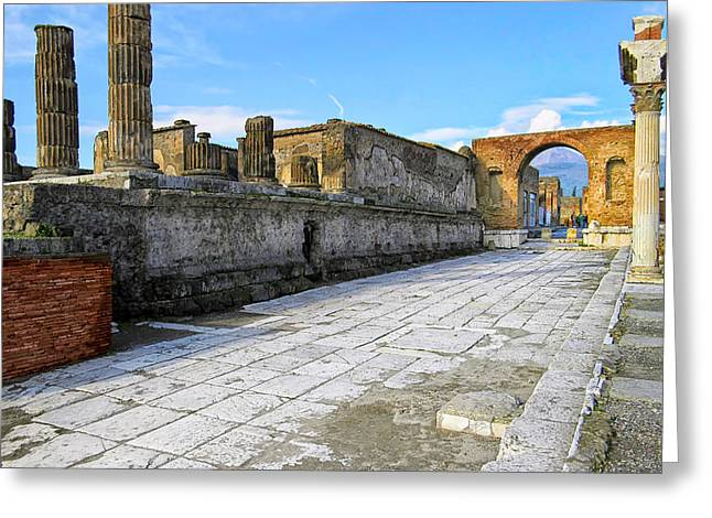 Haunting Ruins Of Ancient Pompeii Greeting Card by Mark E Tisdale