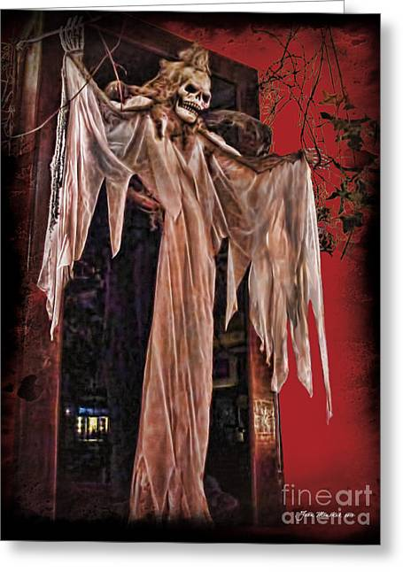 Hauntings Greeting Card by Joan  Minchak