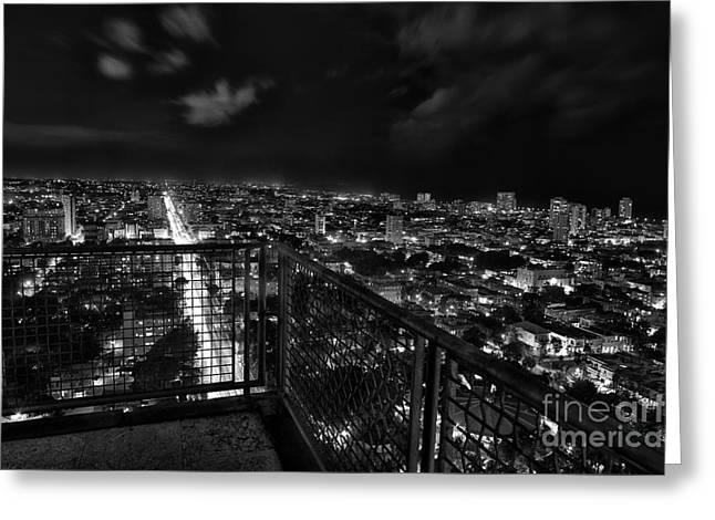Havana At Night Greeting Card