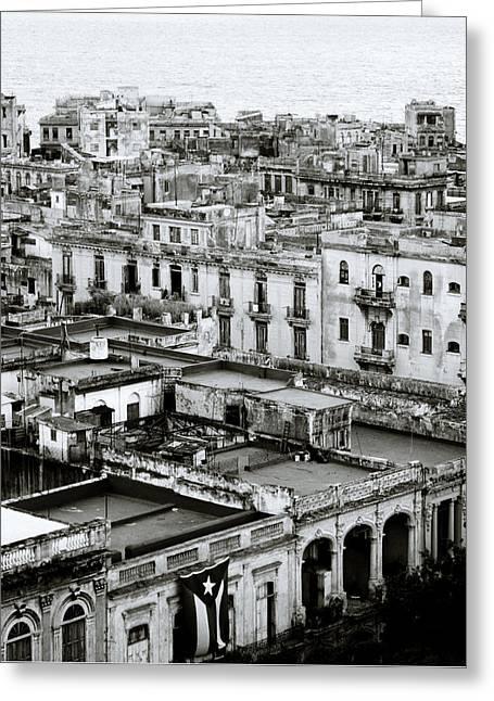 Havana City Greeting Card by Shaun Higson