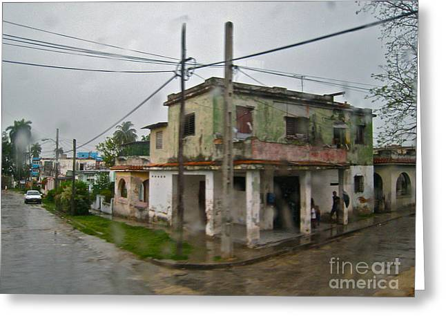 Havana In The Rain Greeting Card by Maureen J Haldeman