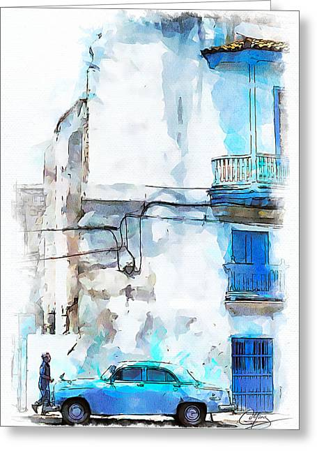 Havana Street Greeting Card