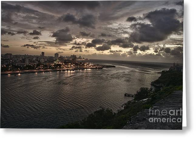 Havana Sunset Greeting Card