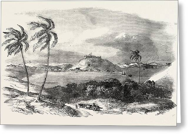 Havannah, Part Of The Harbour, Fort Of Atares Greeting Card by Cuban School