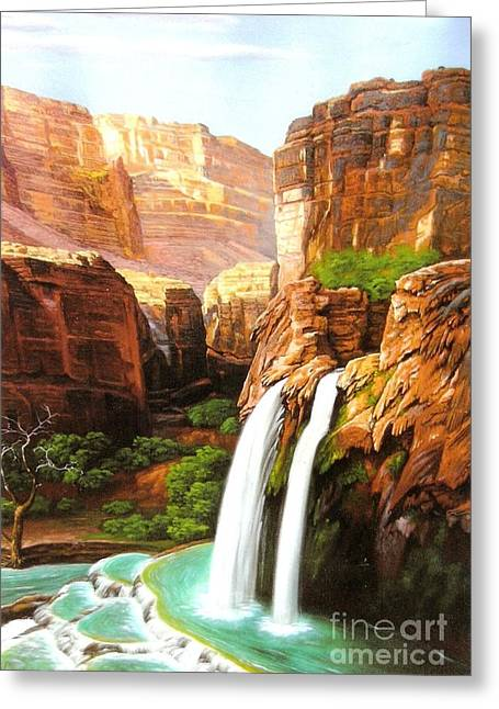Havasu Falls Grand Canyon Greeting Card