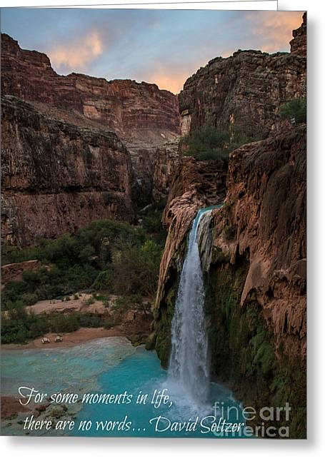 Havasu Falls With Quote Greeting Card