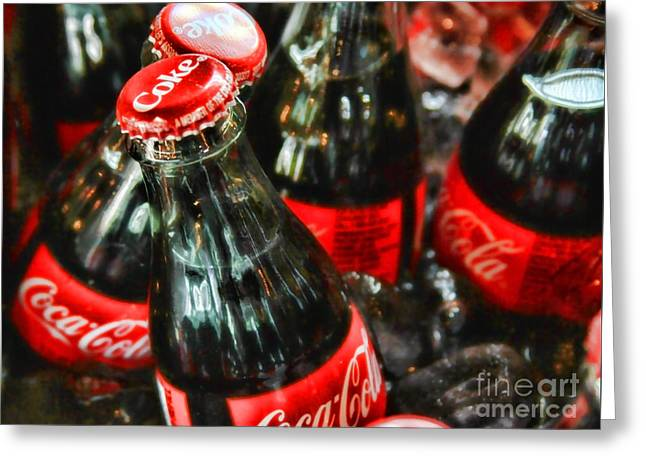 Have A Coke And Give A Smile By Diana Sainz Greeting Card