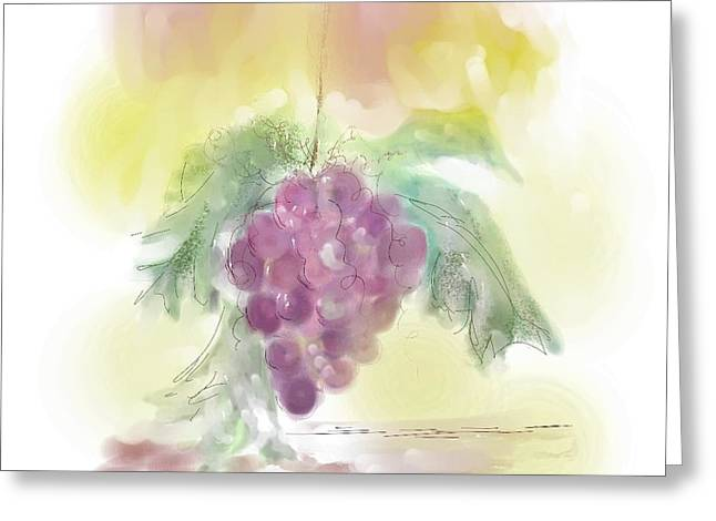Have A Grape Day Greeting Card by Peggy Bosse