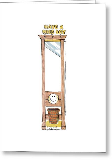 Have A Nice Day Greeting Card by Bernard Schoenbaum