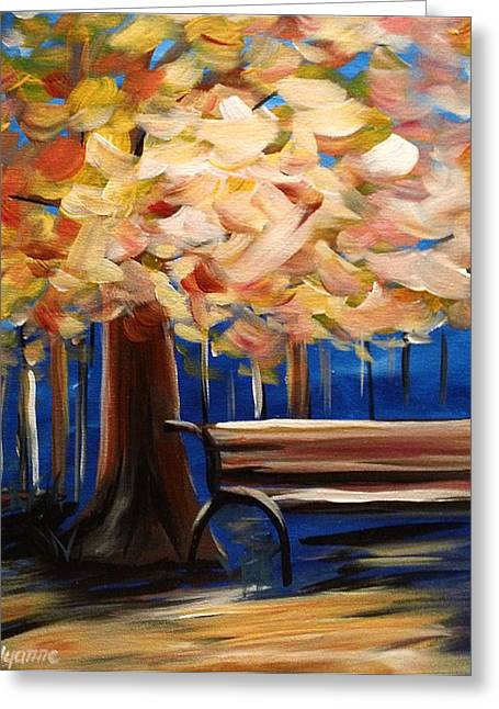 Have A Seat Greeting Card by Dyanne Parker