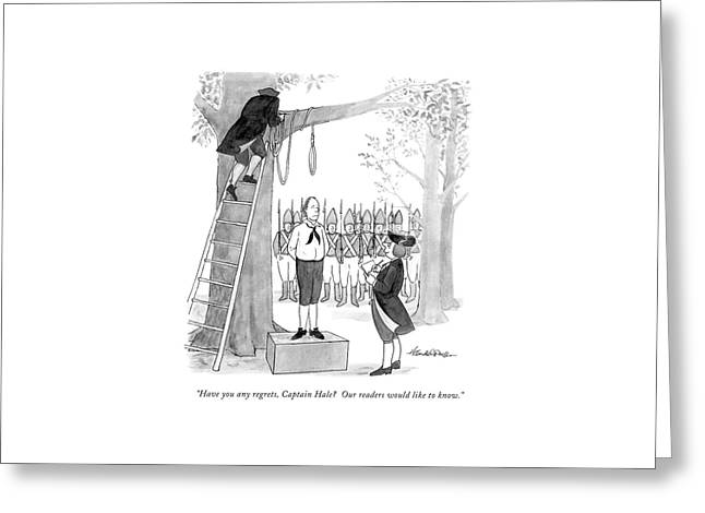 Have You Any Regrets Greeting Card by J.B. Handelsman