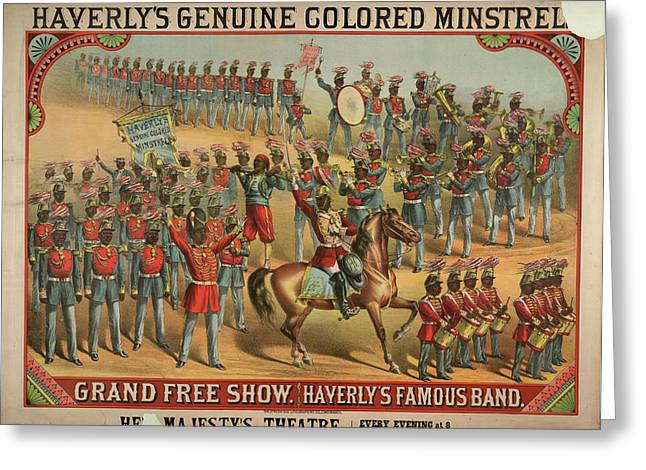 Haverly's Genuine Coloured Minstrels Greeting Card