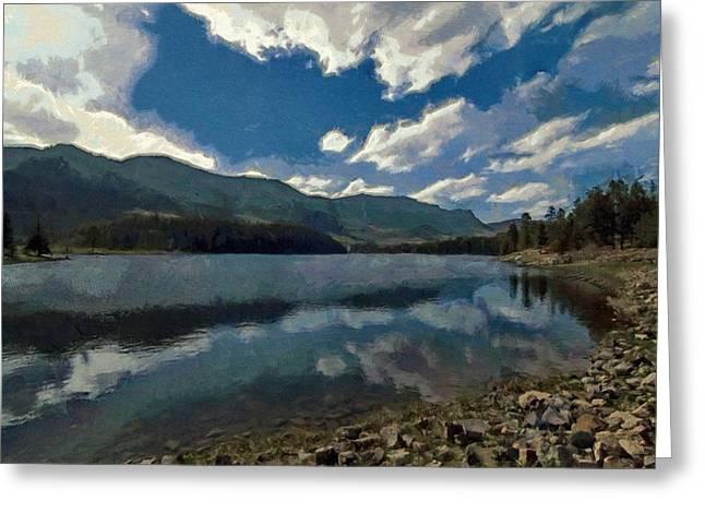 Greeting Card featuring the painting Haviland Lake by Jeff Kolker