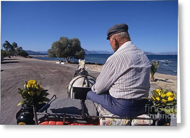 Having A Ride In Aegina Island Greeting Card