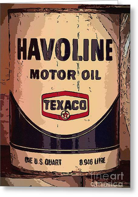 Havoline Motor Oil Can Greeting Card