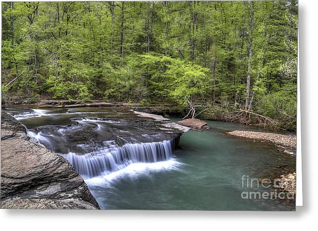 Haw Creek Falls Greeting Card by Twenty Two North Photography