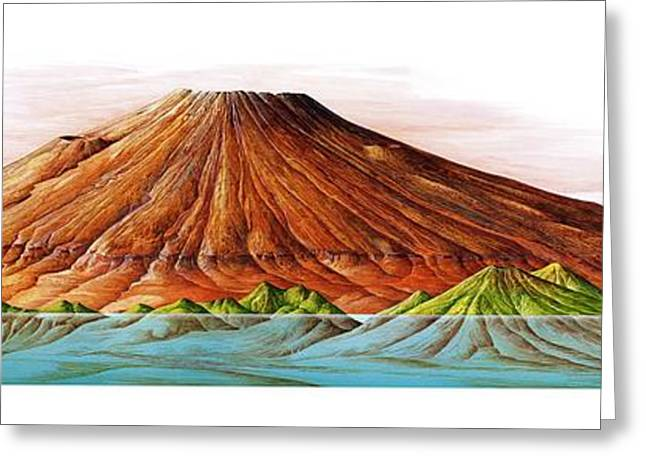 Hawaii And Olympus Mons Greeting Card by Gary Hincks