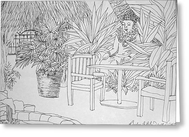 Hawaii Coloring Page Greeting Card