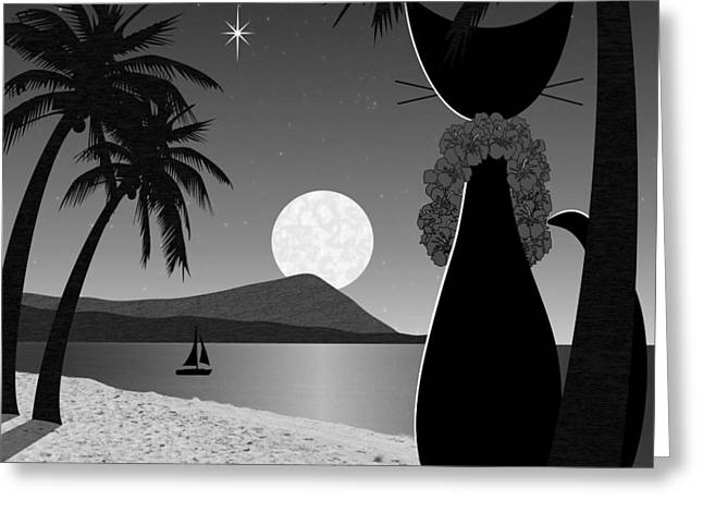 Greeting Card featuring the digital art Hawaii by Donna Mibus