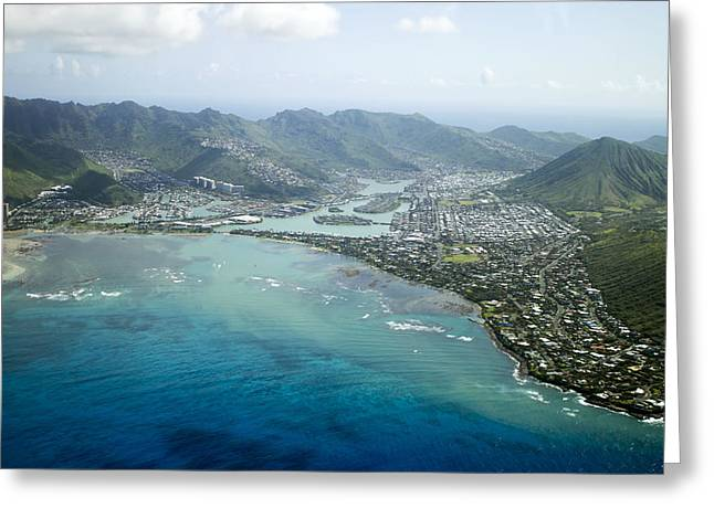 Hawaii Kai Aerial Greeting Card
