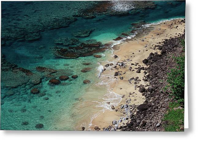 Hawaii, Kauai, Haena State Park, A View Greeting Card by Christopher Talbot Frank