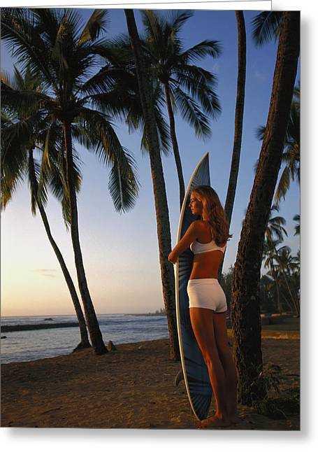 Hawaii, Oahu, North Shore, Full Length Greeting Card by Dana Edmunds