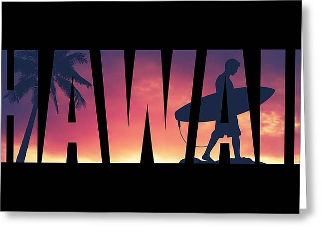 Hawaii Postcard Greeting Card