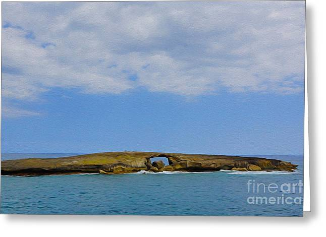 Hawaii Rocks Greeting Card by Nur Roy