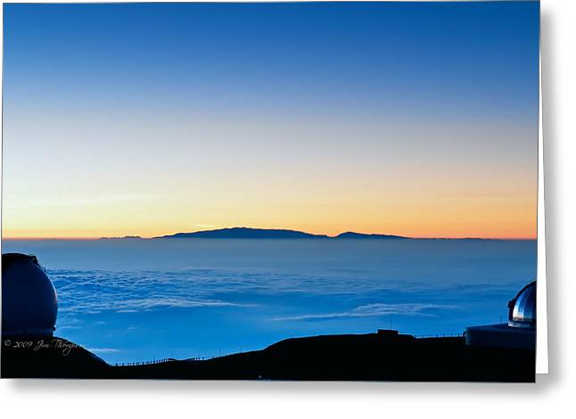 Greeting Card featuring the photograph Hawaii Sunset by Jim Thompson