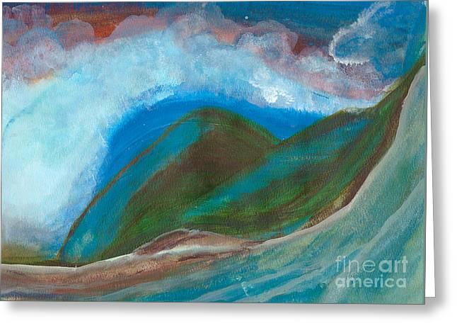 Hawaiian Breeze Greeting Card by Heather  Hiland