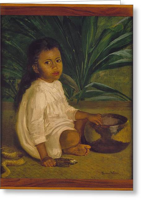 Hawaiian Child, 1901 Greeting Card
