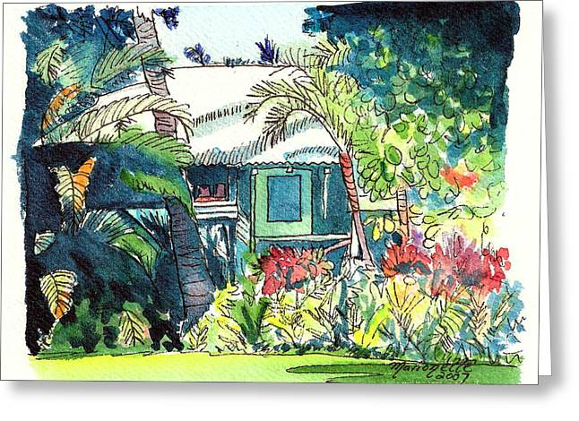 Hawaiian Cottage 3 Greeting Card by Marionette Taboniar